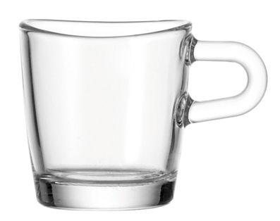 Tischkultur - Tassen und Becher - Loop Espressotasse - Leonardo - Transparent - Glas