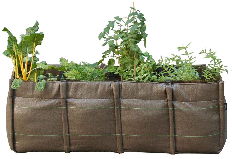 Outdoor - Pots & Plants - BacLong Geotextile Planter - Outdoor - 140 L by Bacsac - 4 squares - 140 L - Geotextile cloth