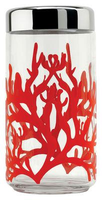 Accessoires - Accessoires für das Bad - Mediterraneo hermetisch verschließbares Glas Luftdicht - Alessi - 150 cl - Glas, rostfreier Stahl