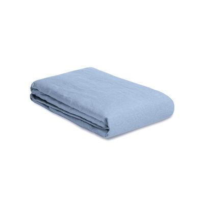 Housse de couette 200 x 200 cm / Lin lavé - Au Printemps Paris bleu en tissu