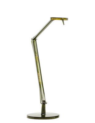 Lampe de table Aledin TEC / LED - Diffuseur plat - Kartell vert en matière plastique