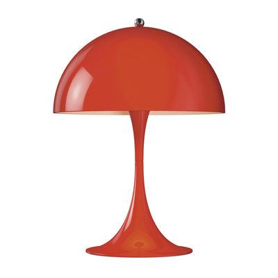Lampe de table Panthella Mini LED / H 33,5 cm - Métal - Louis Poulsen rouge en métal