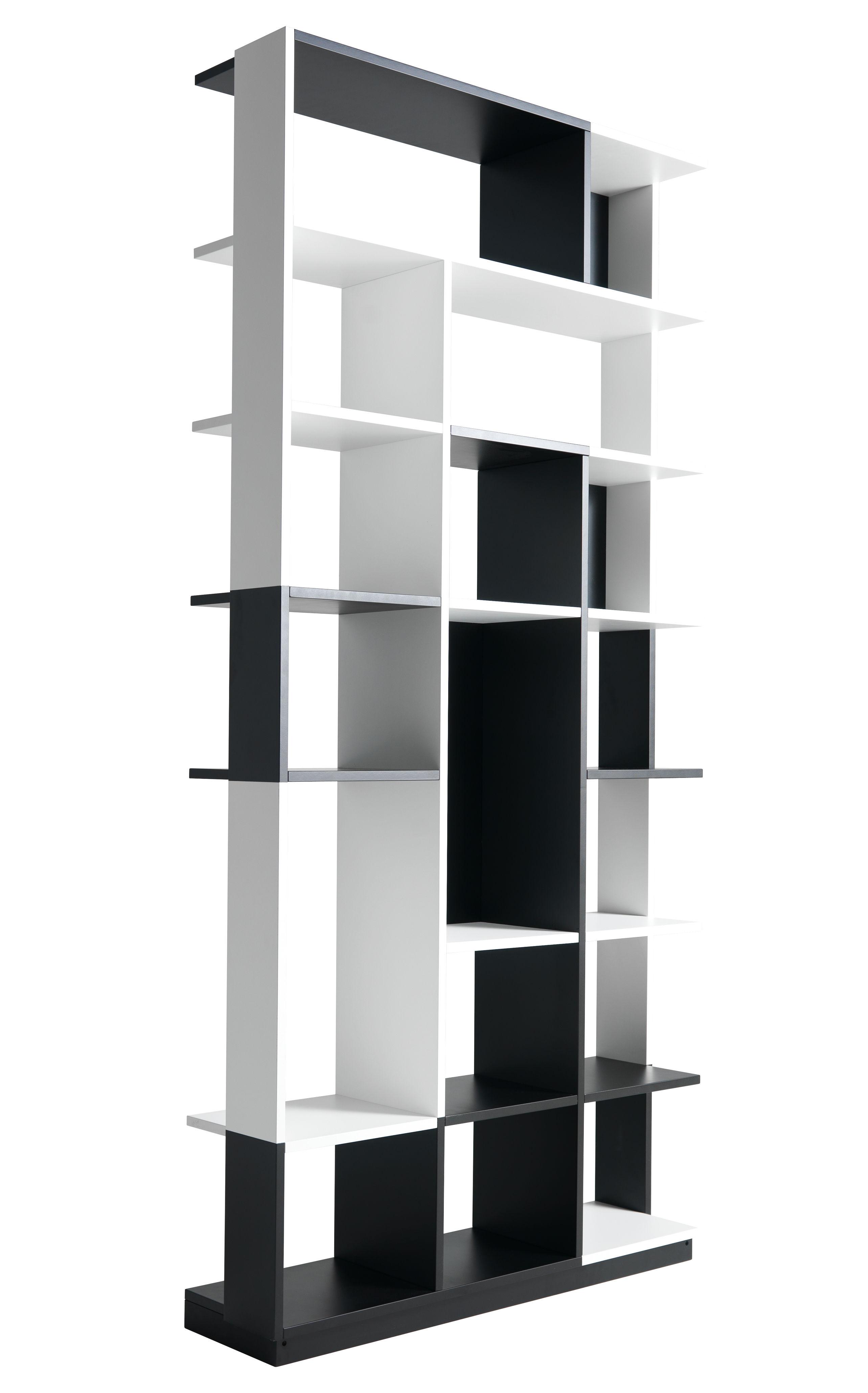 Arredamento - Scaffali e librerie - Libreria Sudoku di Horm - Nero e bianco - Compensato di legno laccato