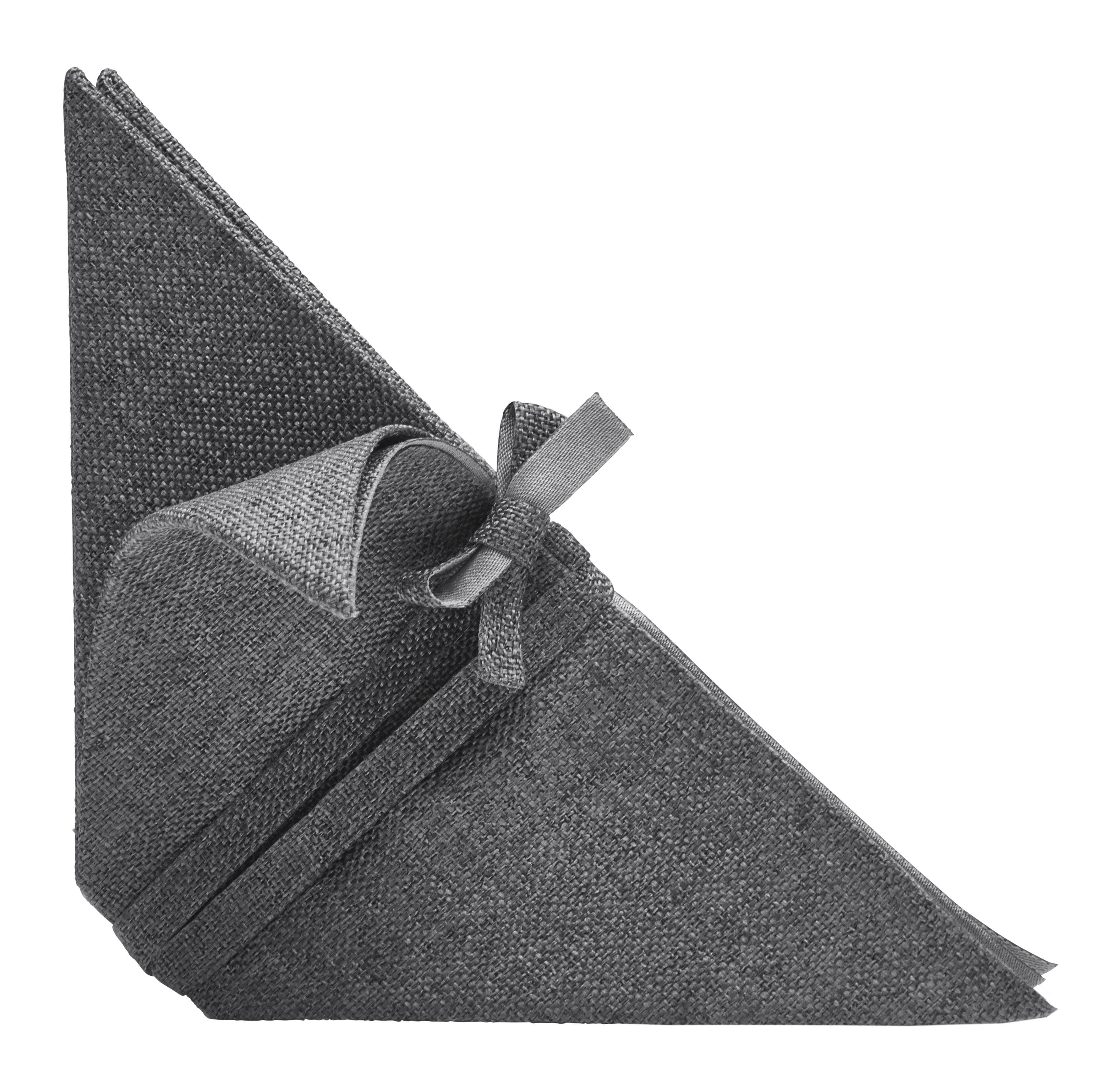 Tableware - Napkins & Tablecloths - Iittala X Issey Miyake Napkins by Iittala - Dark grey - Polyester