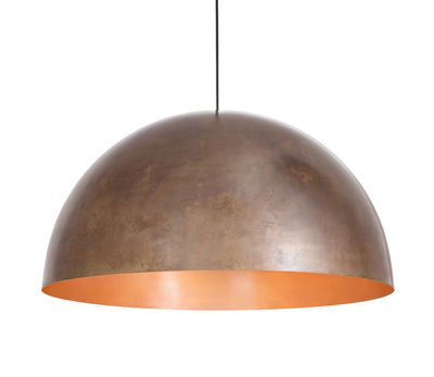 Lighting - Pendant Lighting - Oru Cuivre Pendant - Ø 80 cm by Fabbian - Burnished copper / Polisehd copper - Copper