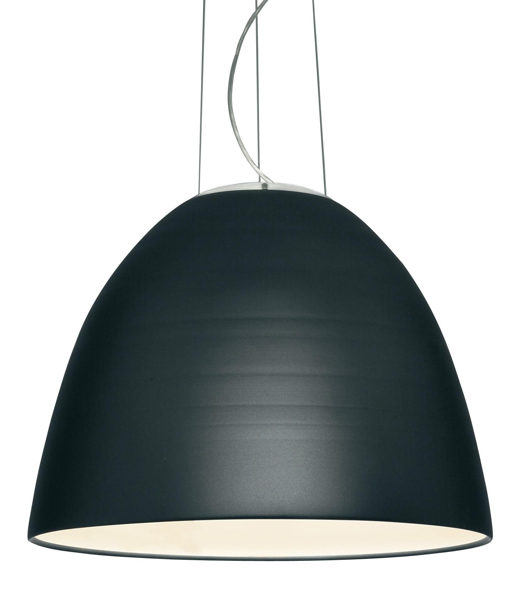 Leuchten - Pendelleuchten - Nur LED Pendelleuchte / Ø 55 cm - Artemide - Anthrazit-grau - Aluminium, Glas