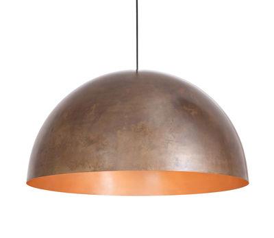 Leuchten - Pendelleuchten - Oru Cuivre Pendelleuchte / Ø 80 cm - Fabbian - Kupfer / Innenseite Kupfer poliert - Kupfer