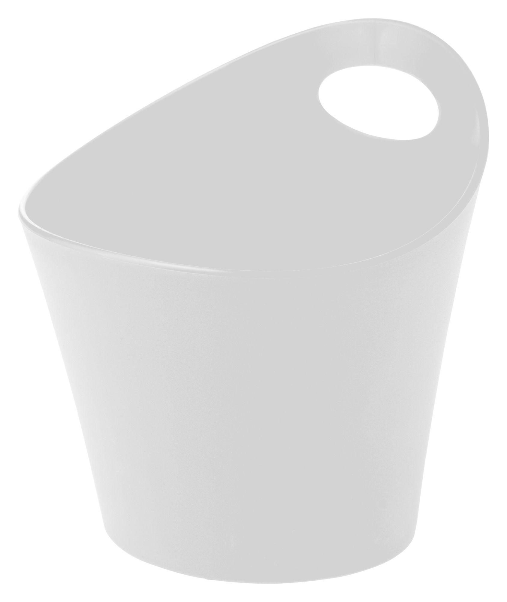 Déco - Salle de bains - Pot Pottichelli XS / Ø 15 x H 9 cm - Koziol - Blanc - PMMA