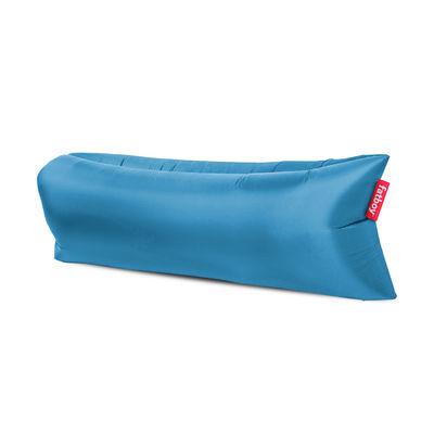 Pouf gonflable Lamzac 3.0 / L 200 cm - Polyester - Fatboy Pouf gonflé : L 200 x larg. 90 cm x H 50 cm - Pouf plié : L 35 x Ø 18 cm bleu ciel en tissu