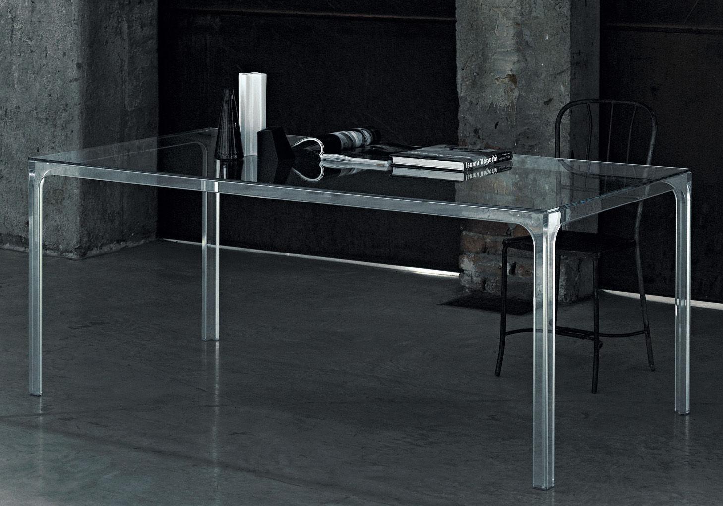 Möbel - Tische - Oscar rechteckiger Tisch 190 x 90 cm - Glas Italia - Transparent - Cristal trempé