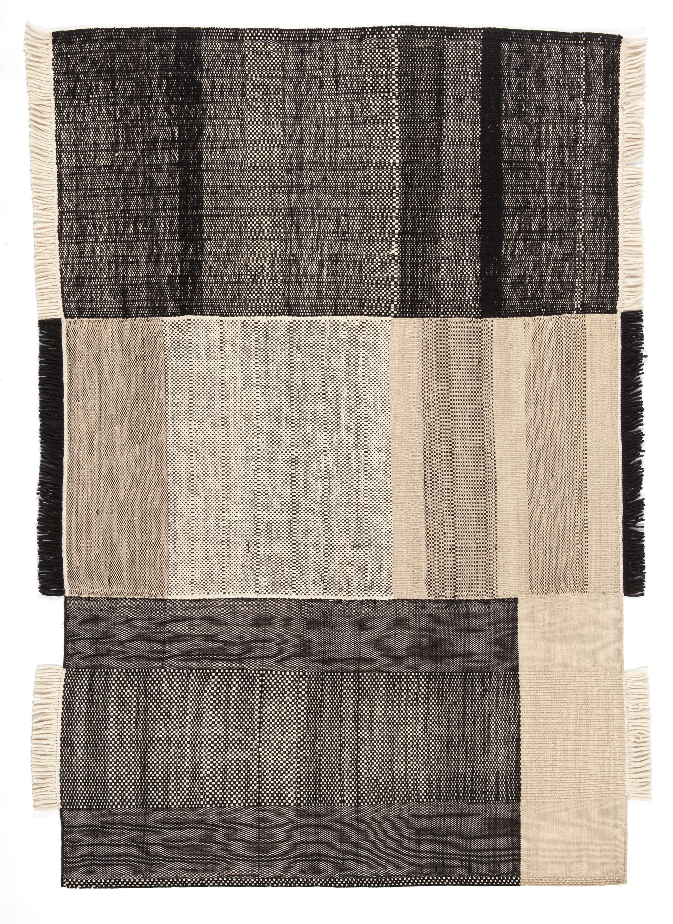 Decoration - Rugs - Tres Rug - 200 x 300 cm by Nanimarquina - Black - Cotton, Felt, New-zealand wool
