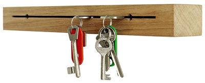 Dekoration - Büro - Key Block Schlüsselablage / zur Wandmontage - Pension Für Produkte - Pop Corn - Eiche - geölte Eiche