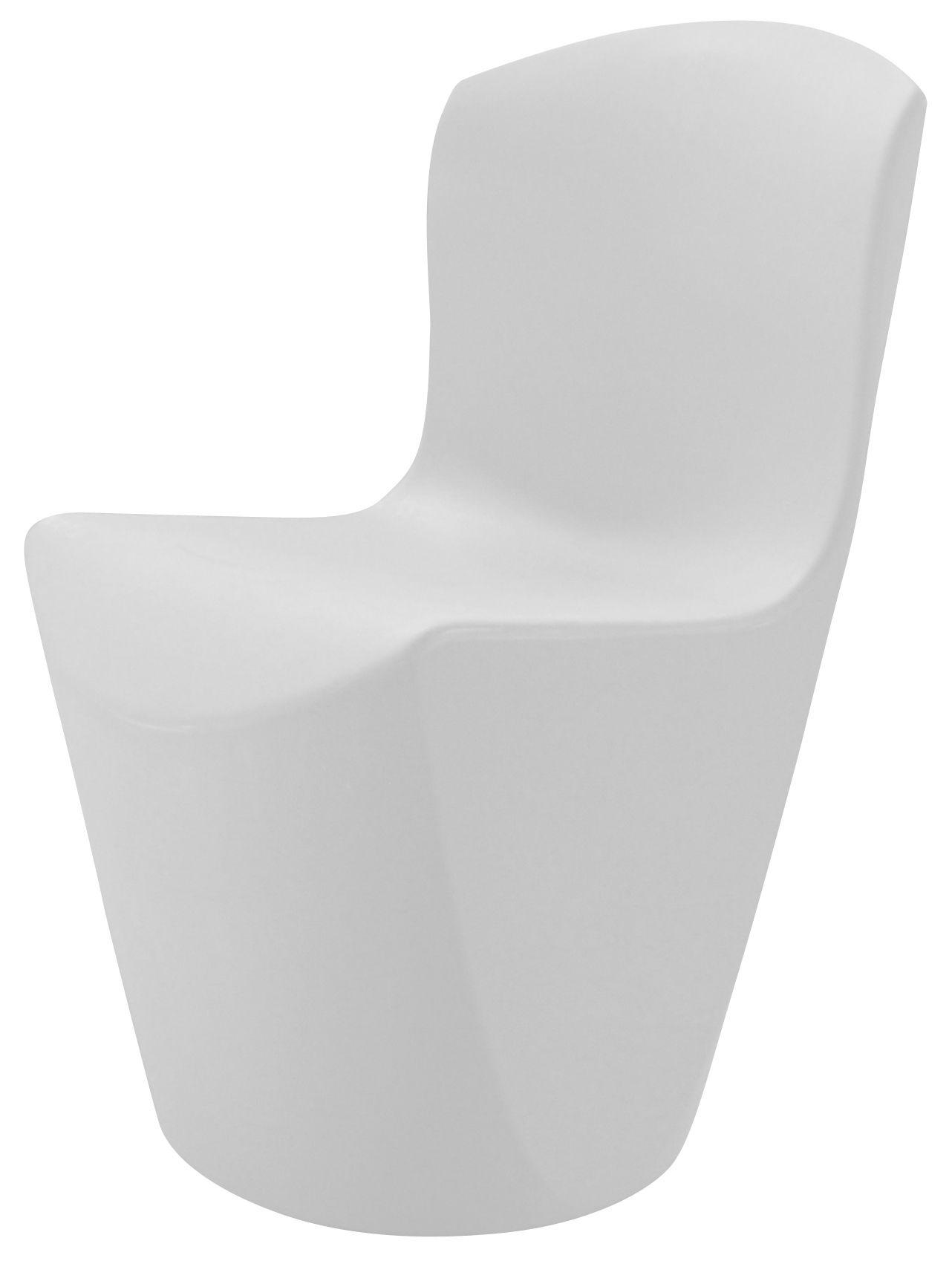 Arredamento - Sedie  - Sedia Zoe di Slide - Bianco - polietilene riciclabile