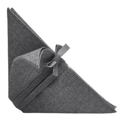 Tischkultur - Tischdecken und -servietten - Iittala X Issey Miyake Serviette - Iittala - Dunkelgrau - Polyesterfaser