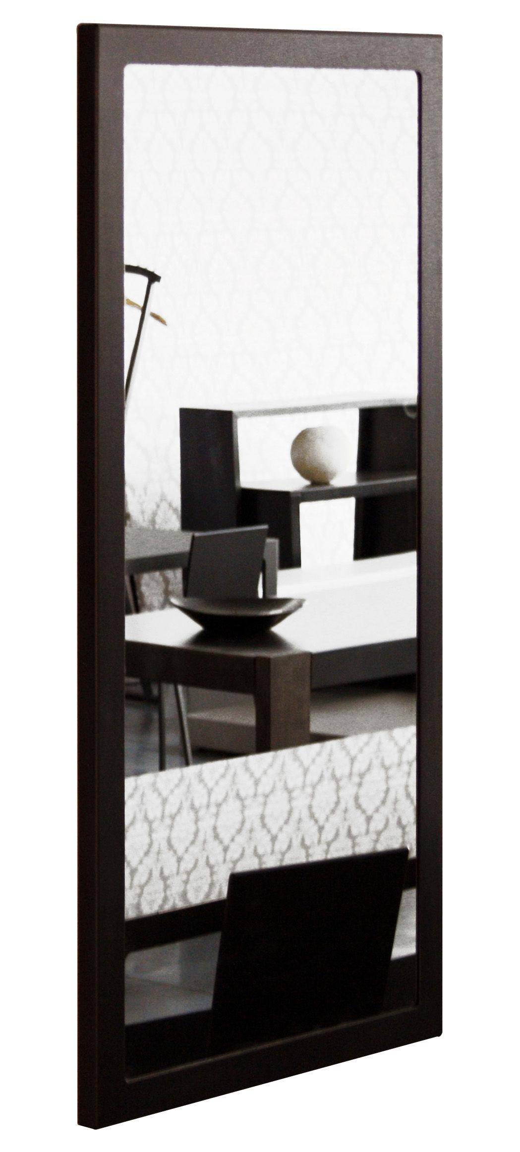 Arredamento - Specchi - Specchio murale Little Frame - 60 x 120 cm di Zeus - Fosfatato nero - Tôle d'acier naturelle