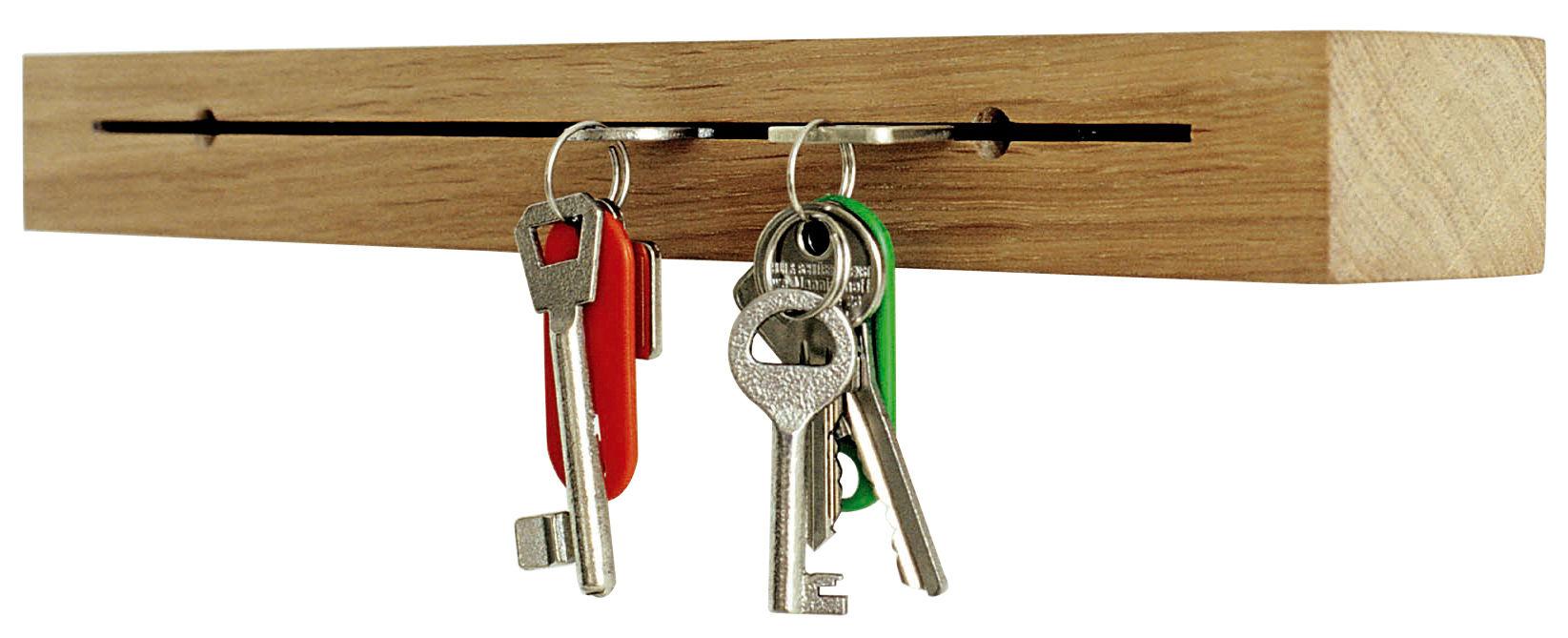 Déco - Accessoires bureau - Support à clés Key Block / Mural - Pension Für Produkte - Pop Corn - Chêne - Chêne huilé