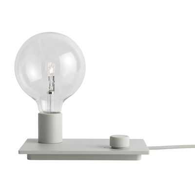 Lighting - Table Lamps - Control Table lamp - Dimmer by Muuto - Grey - Cast aluminium