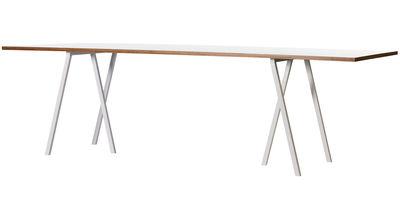 Table rectangulaire Loop / L 180 cm - Hay blanc en métal