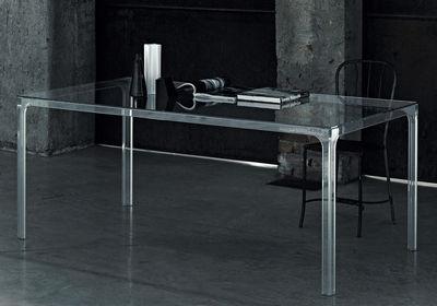Mobilier - Tables - Table rectangulaire Oscar / 190 x 90 cm - Glas Italia - Transparent - Cristal trempé