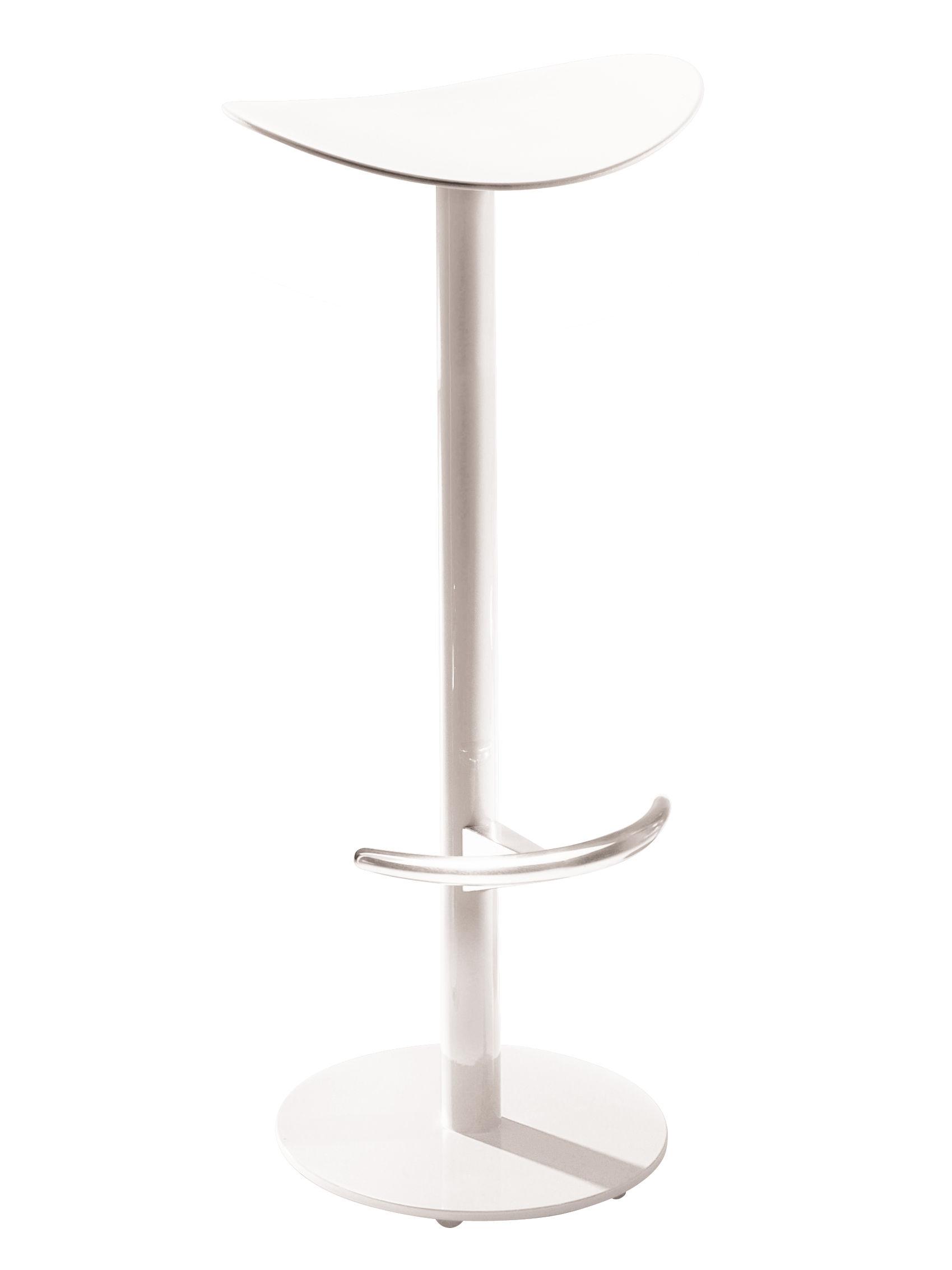 Mobilier - Tabourets de bar - Tabouret de bar Coma / H 75cm - Plastique & métal - Enea - Blanc - Acier laqué, Polypropylène