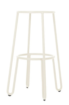 Tabouret de bar Huggy / H 75 cm - Aluminium - Maiori blanc en métal