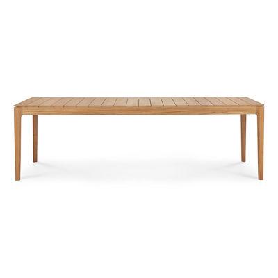 Outdoor - Tavoli  - Tavolo rettangolare Bok Outdoor - / Teck - 250 x 100 cm / 10 persone di Ethnicraft - Teck - Teck massif certifié FSC