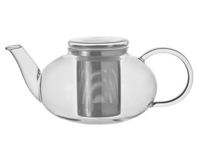 Tischkultur - Tee und Kaffee - Moon Teekanne 1,2 L - Leonardo - Transparent - 1,2 L - Glas, Stahl