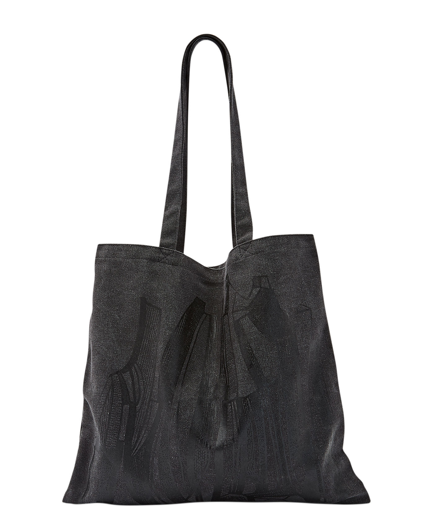 Accessoires - Sacs, trousses, porte-monnaie... - Tote bag Geo / 40 x 45 cm - Edition limitée - Tom Dixon - Anthracite - Coton, Lin