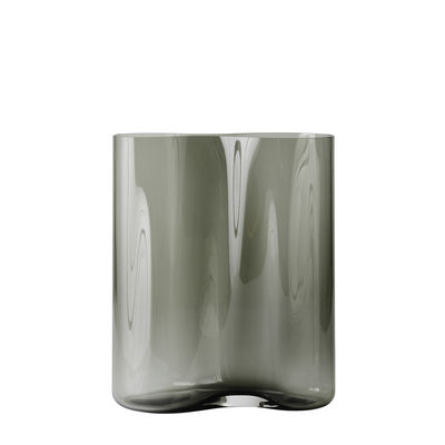 Decoration - Vases - Aer Small Vase - / H 33 cm - Glass by Menu - H 33 cm / Smoked - Smoked glass