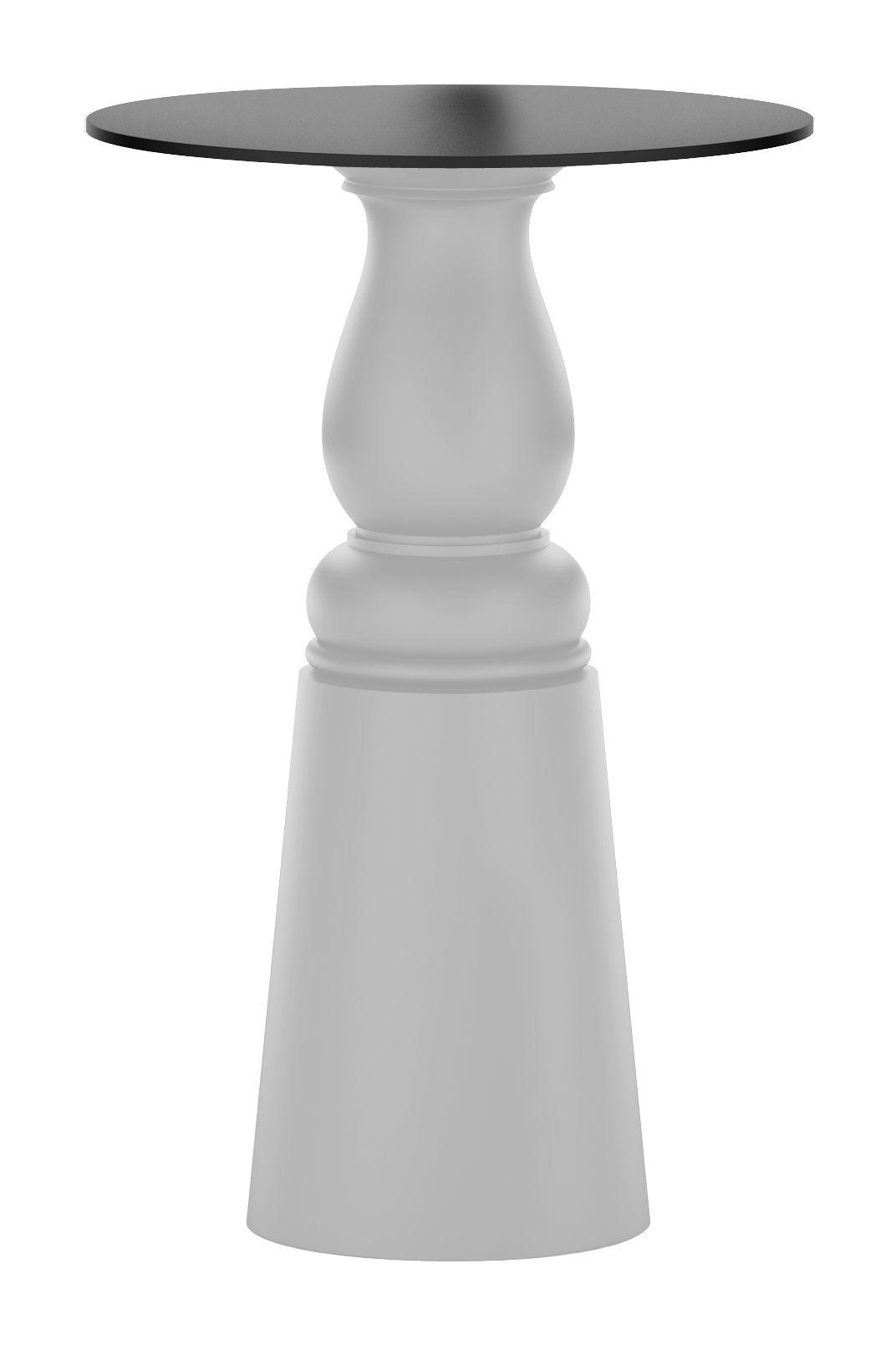 Outdoor - Tavoli alti e bar - Accessorio tavolo / Pied pour table Container New Antique - Ø 38 x H 106 cm - Per piano d'appoggio Ø 70 cm di Moooi - Gamba colore grigio - Ø 38 x H 106 cm - Acciaio inossidabile, Polietilene