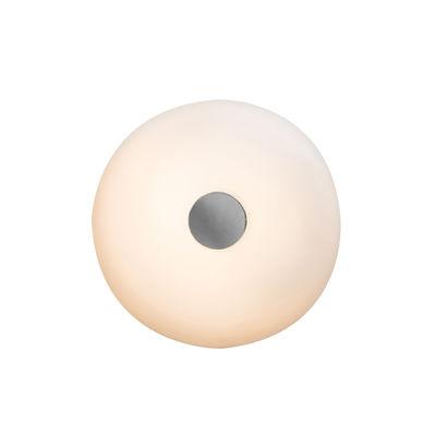 Applique Tropico Media LED / Plafonnier - Ø 36 cm / Verre soufflé - Fontana Arte noir,blanc opalin en verre
