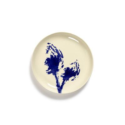 Arts de la table - Assiettes - Assiette à dessert Feast Small / Ø 19 cm - Serax - Artichaut / Blanc & bleu - Grès émaillé