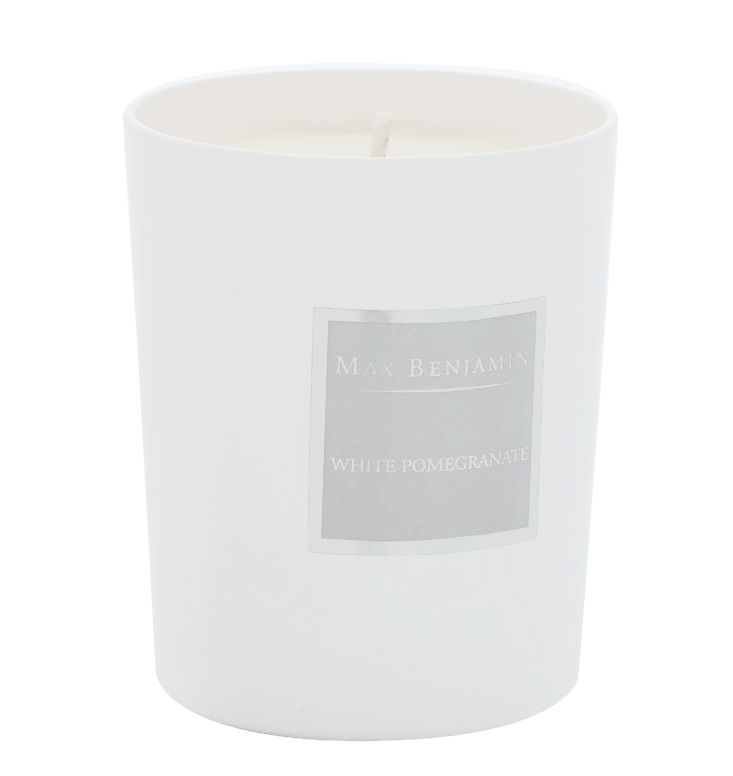 Déco - Bougeoirs, photophores - Bougie parfumée Grenade blanche - 190gr - Max Benjamin - Grenade Blanche / Gris - Cire naturelle, Coton, Huiles essentielles, Verre