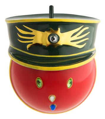 Boule de Noël Faberjorì / Général Corallo - Porcelaine peinte main - Alessi multicolore en céramique