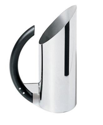 Carafe Mia pot - Alessi noir,acier en métal