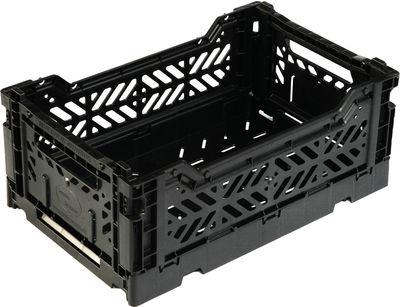 Accessoires - Accessoires bureau - Casier de rangement Mini Box / pliable L 26,5 cm - Surplus Systems - Pop Corn - Noir - Polypropylène