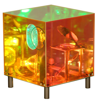 Lighting - Table Lamps - Coolheure Magic mirror Clock - Projected display by Designheure - Mirror - Acrylic