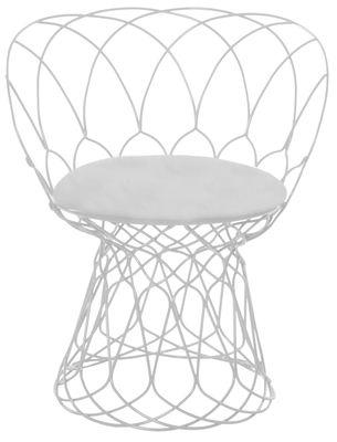 Déco - Coussins - Coussin d'assise / Pour fauteuil et pouf Re-trouvé - Emu - Blanc uni - Tissu