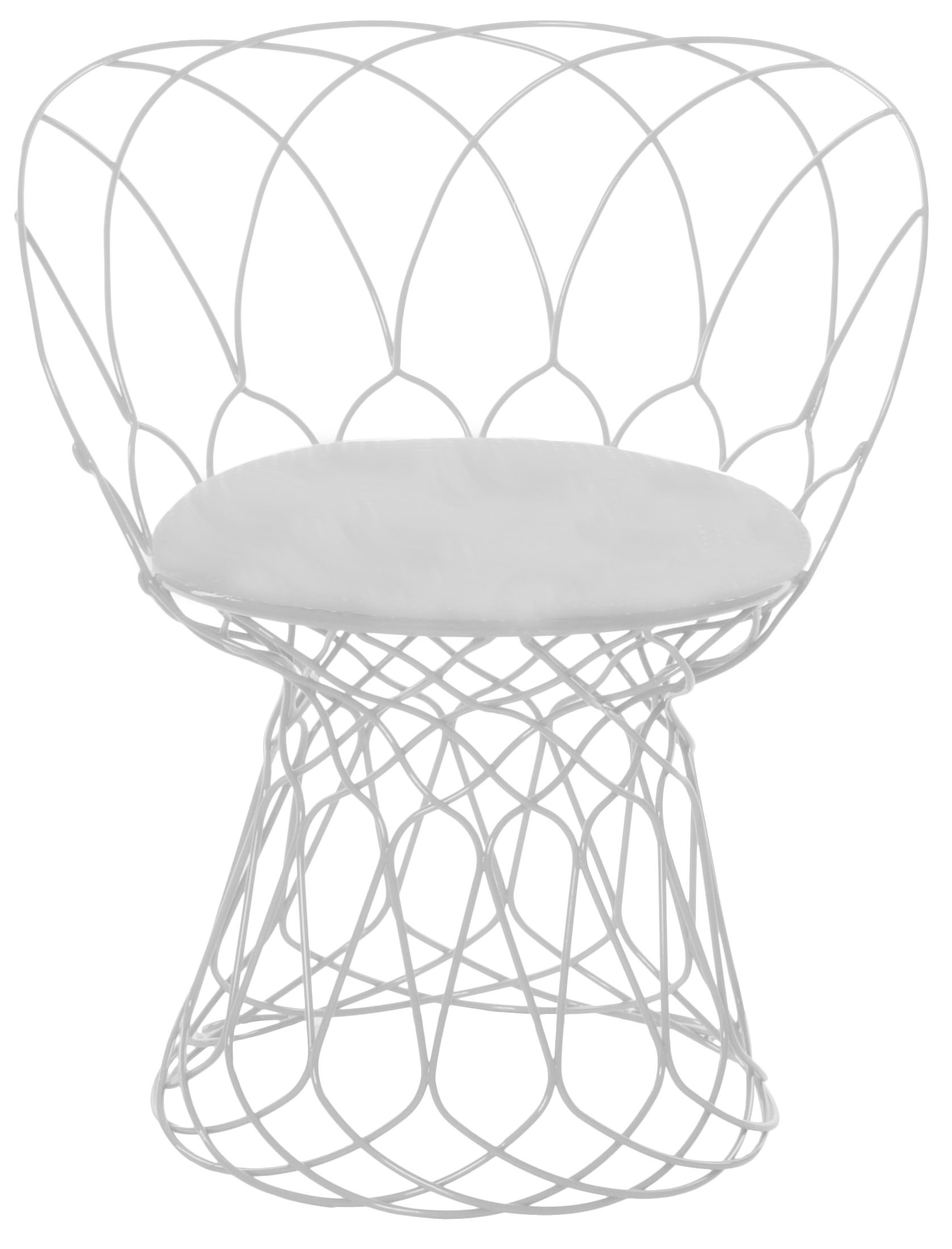 Interni - Cuscini  - Cuscino per seduta - Per poltrona e pouf Re-trouvé di Emu - Bianco tinta unita - Tessuto