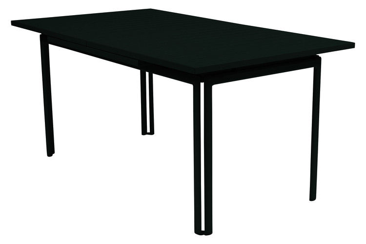 Outdoor - Garden Tables - Costa Extending table - With extension by Fermob - Liquorice - Lacquered aluminium