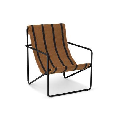 Fauteuil enfant Desert / Structure noire - Bouteilles plastique recyclées - Ferm Living marron/noir en tissu