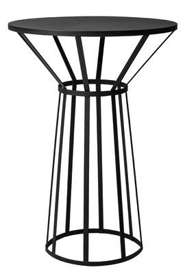 Guéridon Hollo / Ø 50 x H 73 cm - Petite Friture noir en métal