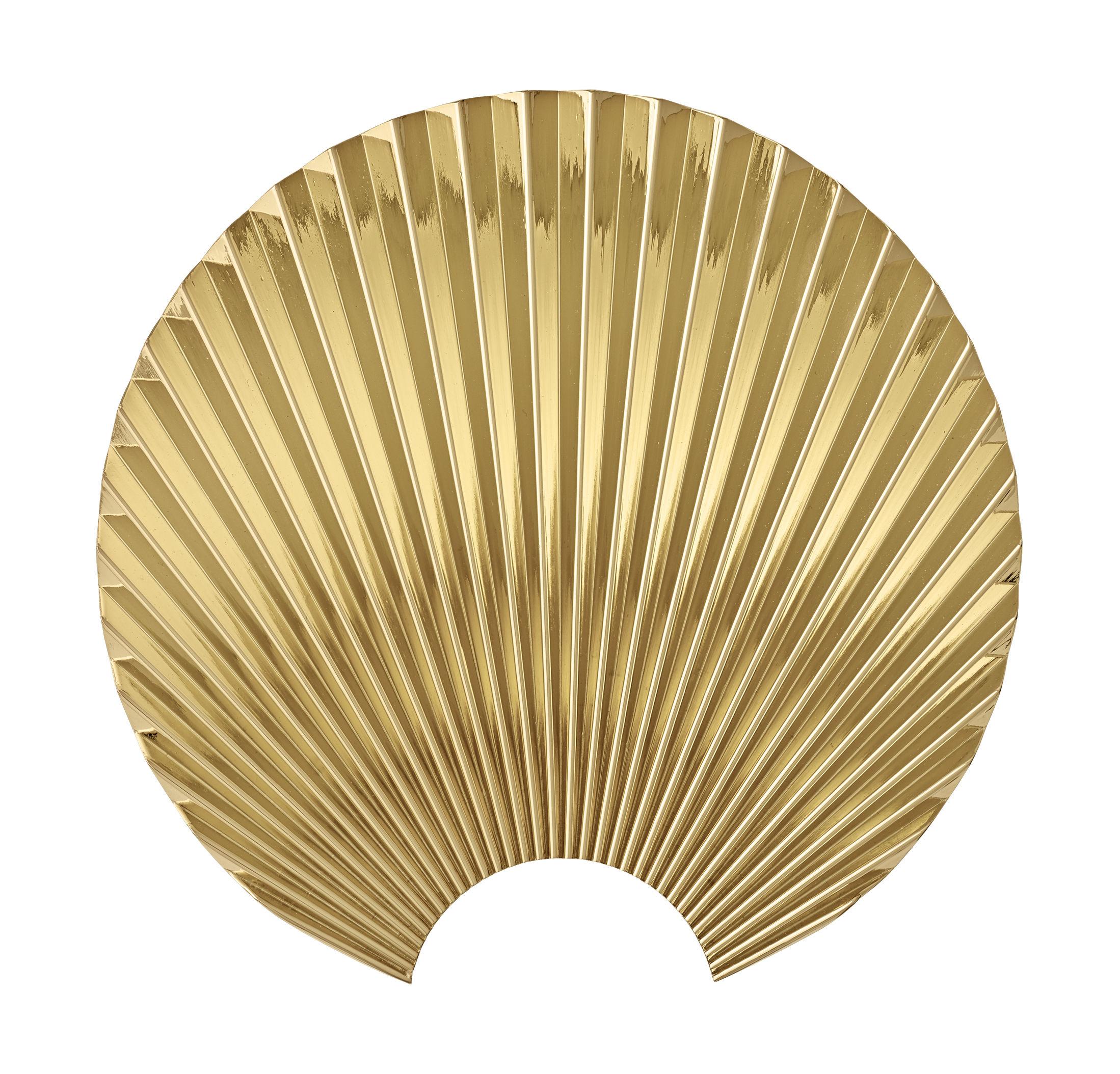 Furniture - Coat Racks & Pegs - Concha Hook - / Zamak - L 5.8 x H 19.5 cm by AYTM - Gold - Zamac