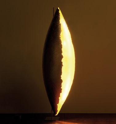 Illuminazione - Lampade da terra - Lampada a stelo PK LED di Catellani & Smith - Oro - Fibra di vetro, Foglio d'oro, Metallo rivestito nickel