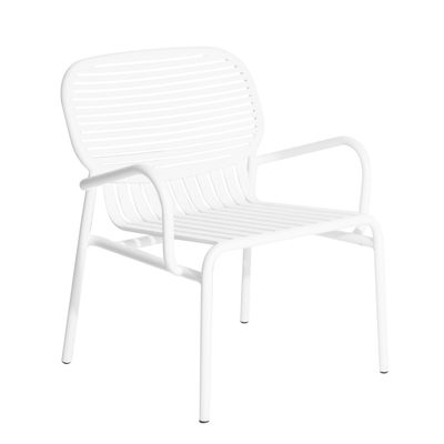 Furniture - Armchairs - Week-end Low armchair - Aluminium by Petite Friture - White - Powder coated epoxy aluminium
