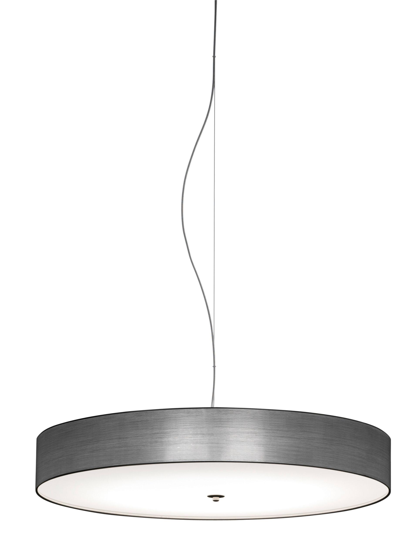 Lighting - Pendant Lighting - Discovolante Pendant - / Ø 40 cm by Modoluce - Satin Metal - Plexiglas, PVC