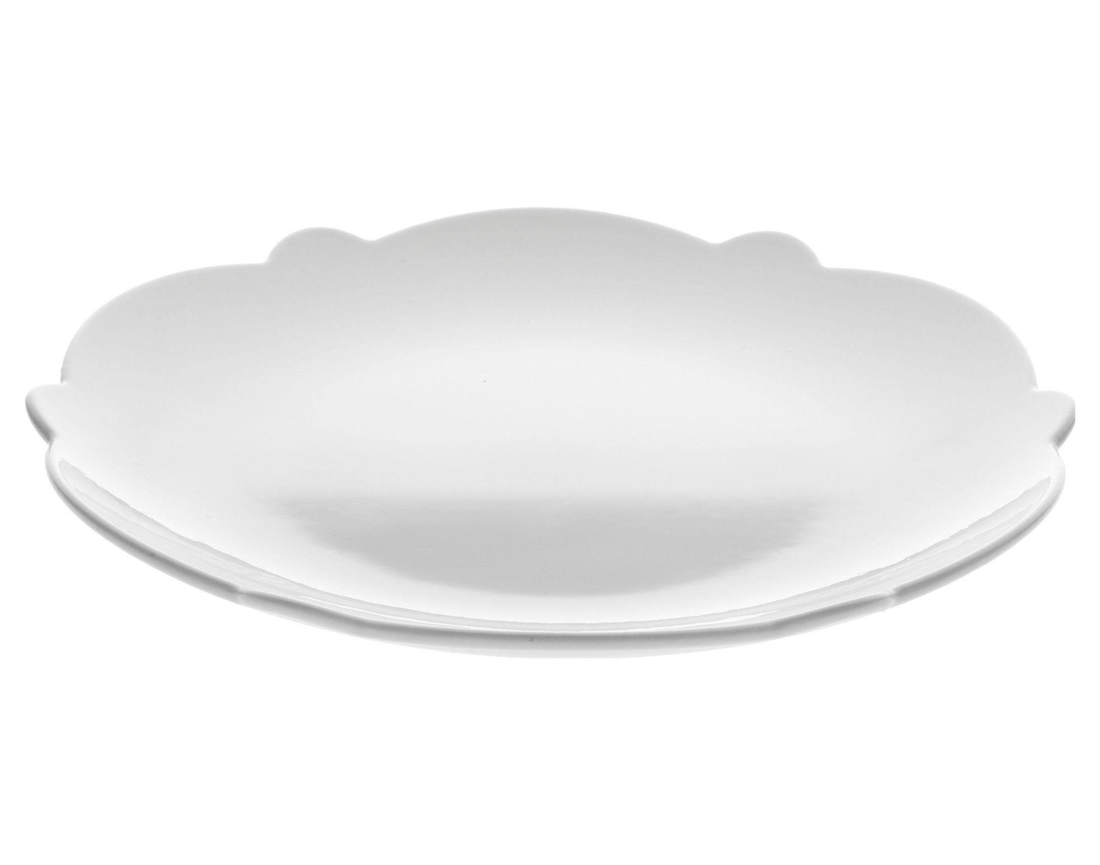 Tavola - Piatti  - Piatto da dessert Dressed - Ø 20 cm di Alessi - Piatto da dessert Ø 20 cm - Bianco - Porcellana