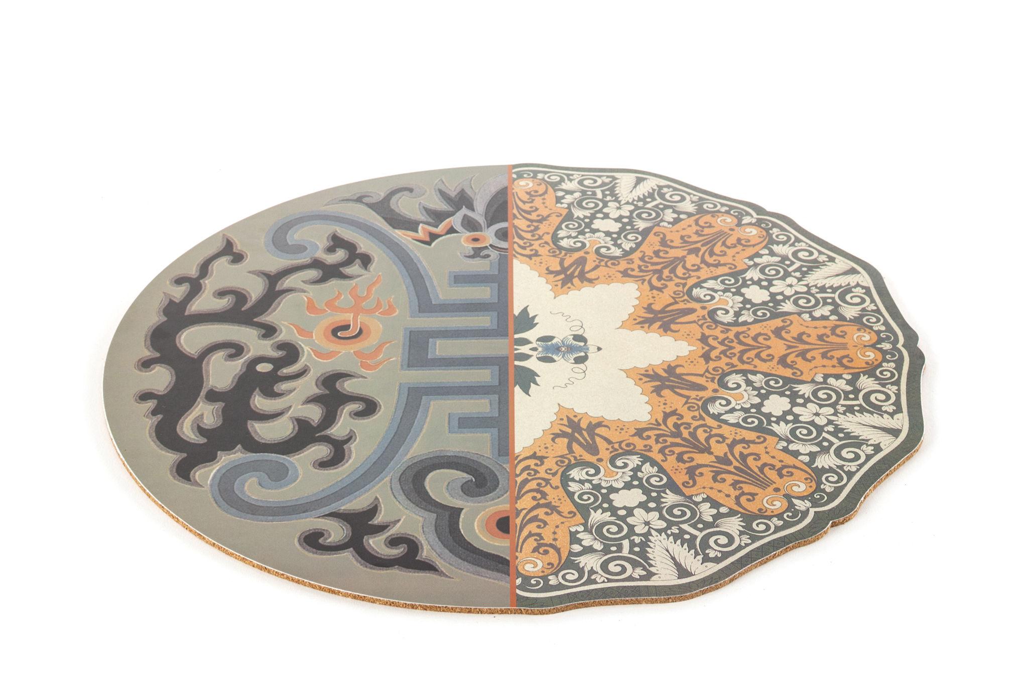Tableware - Napkins & Tablecloths - Hybrid Marozia Placemat - / Ø 37 cm by Seletti - Marozia - Cork, PVC
