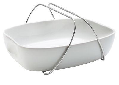Cuisine - Pratique & malin - Plat à gratin avec anse / Small - Porcelaine - Eva Solo - Blanc - Acier inoxydable, Porcelaine