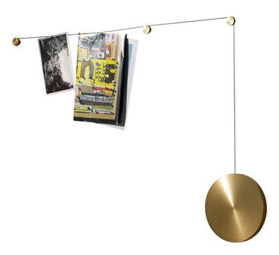 Image of Portafoto My spot a parete - Cavo regolabile 200 cm - Menu - Oro - Metallo